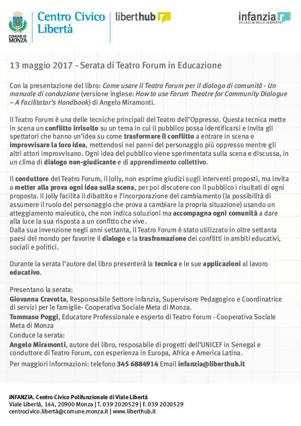 Il Teatro Forum in Educazione_Locandina 2